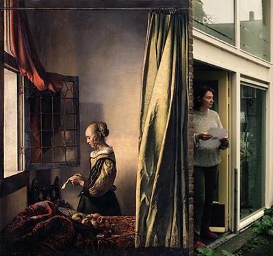 doorelkaar 2  Brief Vermeer en bezoeker atelier camiela